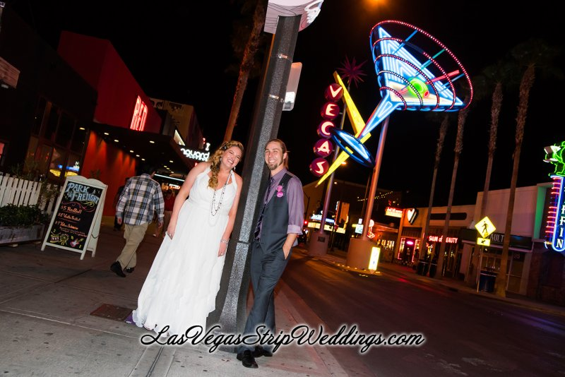 Las Vegas Neon Lights Wedding